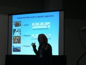 Dr Buonasera during her talk in IUBO